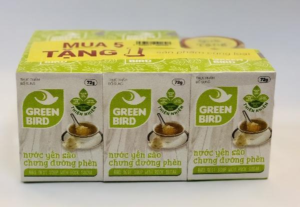 Nước Yến Green Bird 5 tặng 1 Hũ 72g– Nutri