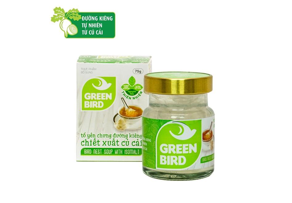 Nước Yến Green Bird chưng đường ăn kiêng - hũ đơn 75gr
