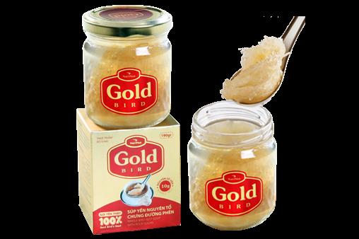 NutriNest - Gold Bird Súp Yến Nguyên Tổ Chưng Đường Phèn Lọ Đơn 190g