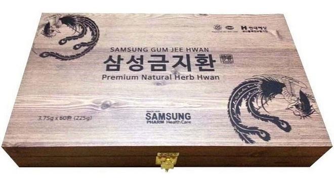 Kiện não Hoàn Hộp gỗ 60 viên 225g - Samsung Gum Jee Hwan
