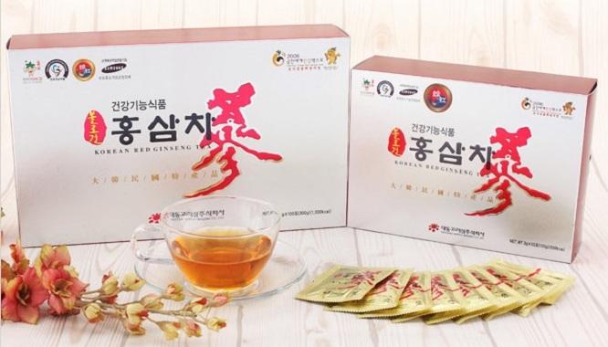 Trà hồng sâm chiết xuất đậm đặc hộp 100 gói – Nutri