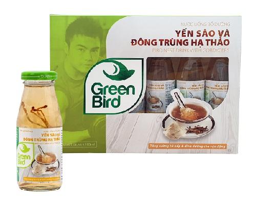 Nước Yến Sào & Đông Trùng Hạ Thảo Green Bird – Hộp quà 6 chai 185ml
