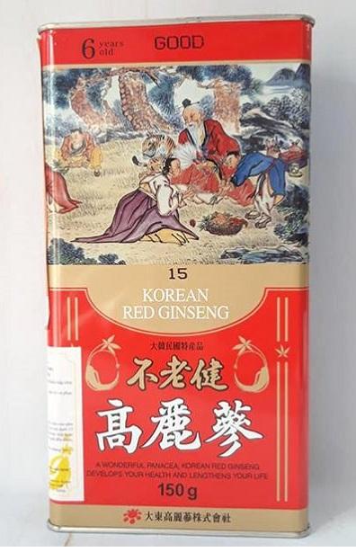 Hồng sâm củ khô Hàn Quốc 6 năm 150gr Số 15 – Nutri.vn