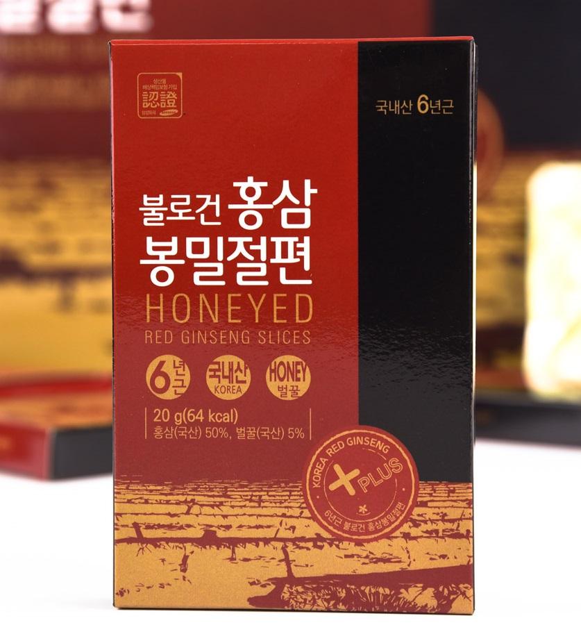 Hồng sâm Hàn Quốc 6 năm tuổi thái lát tẩm mật ong – Nutri