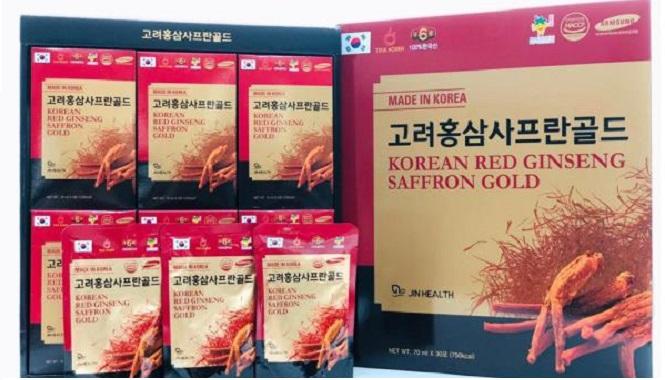 Nước hồng sâm Nhụy hoa nghệ tây Koean Red Ginseng Saffron - Nutri